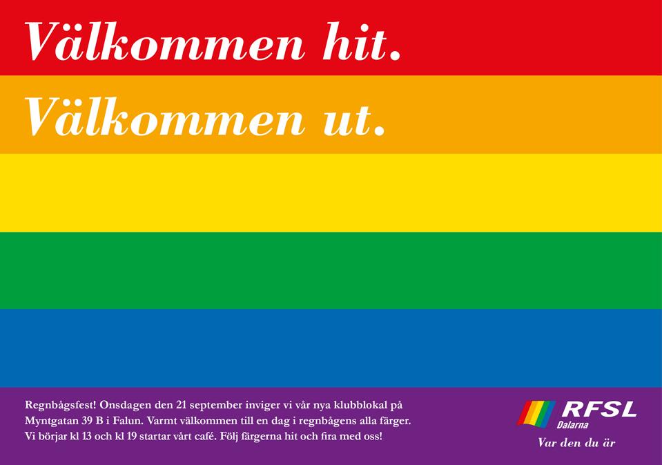 RFSL Dalarna affisch
