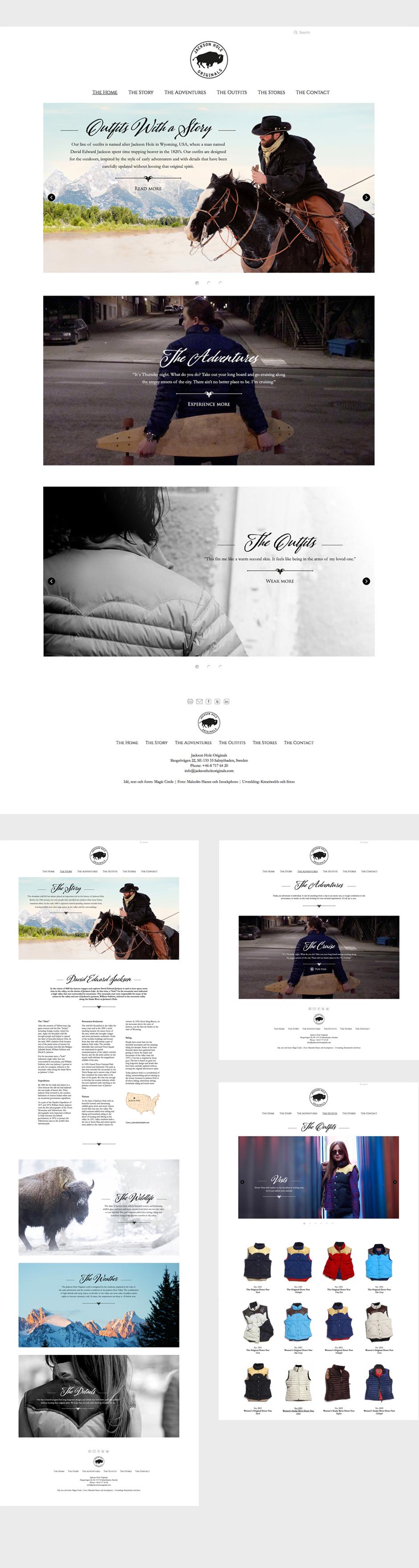 Jackson Hole Originals webbplats