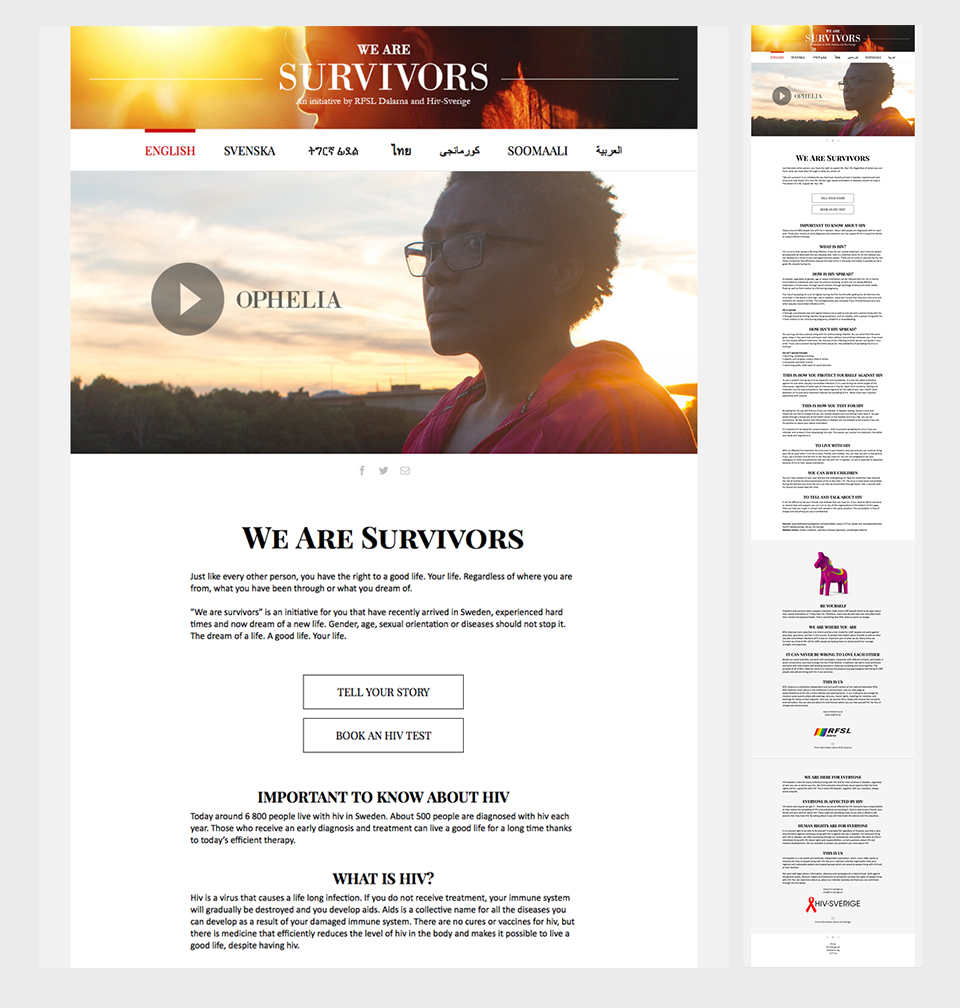We Are Survivors webbplats