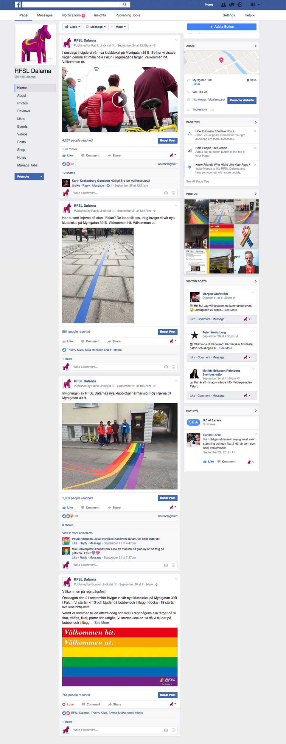 RFSL Dalarna Facebook