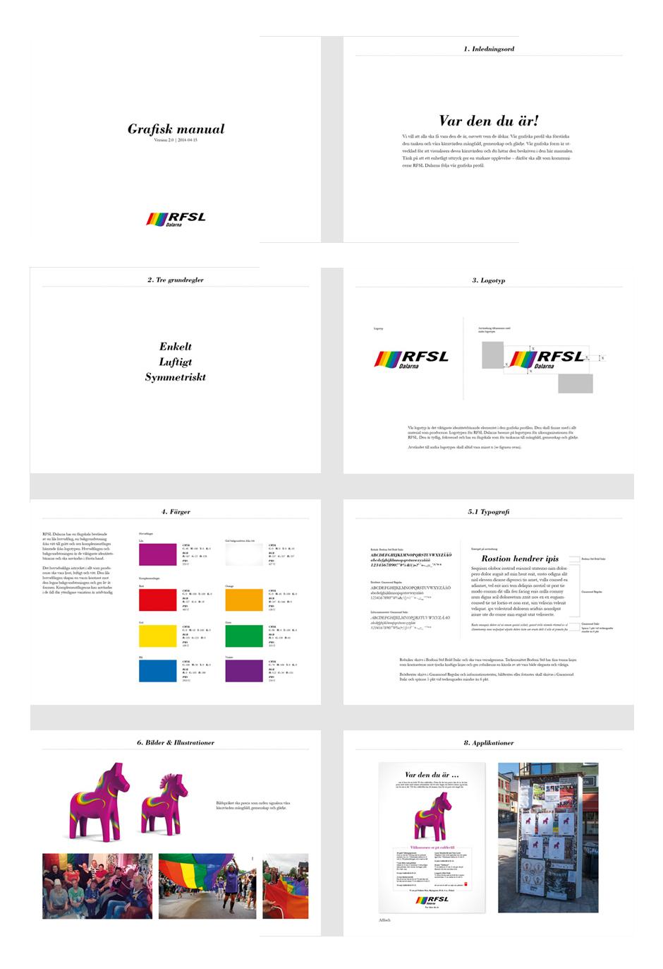 RFSL Dalarna grafisk manual